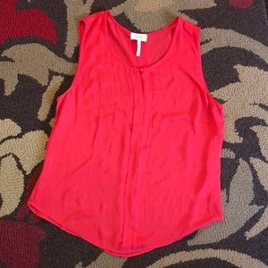 Red sleeveless blouse size XL